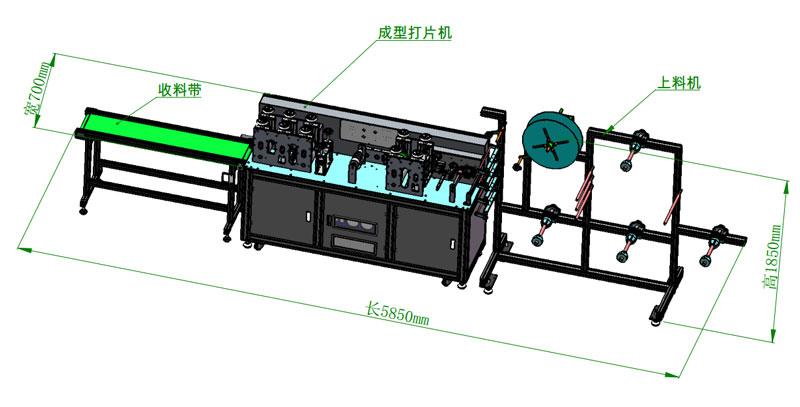 ZX-1950半自动平面口罩生产线生产流程